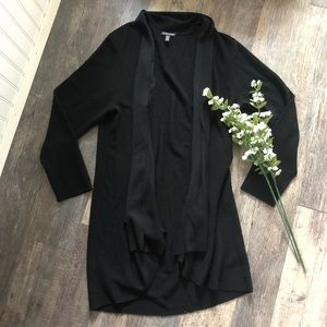 Eileen Fisher | Black Merino Wool Cardigan Sweater